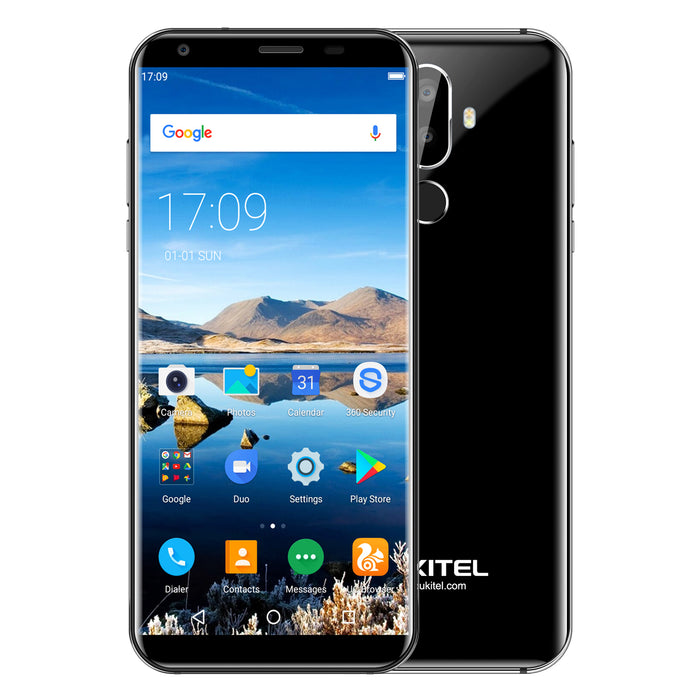 OUKITEL K5 5.7 Inch 18:9 Android 7.0 2+16GB 4000mAh Battery Black Smart Phone