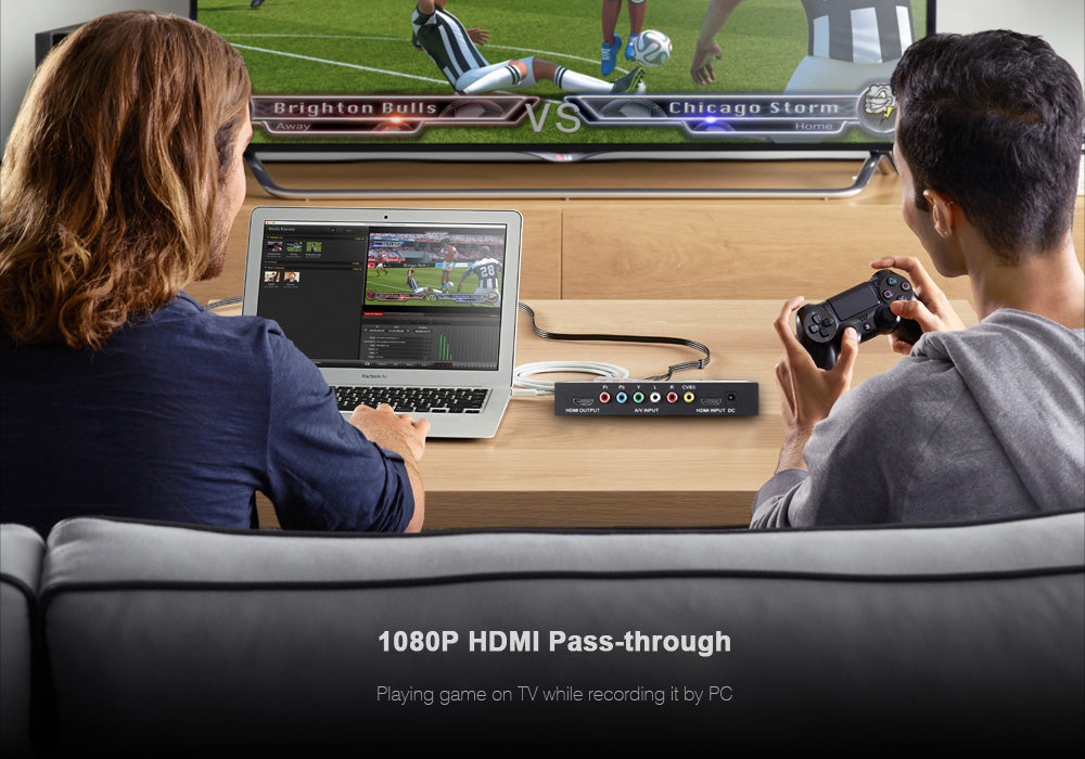 EZCAP 1080P HDMI Recorder - HDMI, YPbPR, CVBS, Audio, Mic, 4GB RAM, Supporting XBOX One, 360, PS4, PS3, DVD, PC
