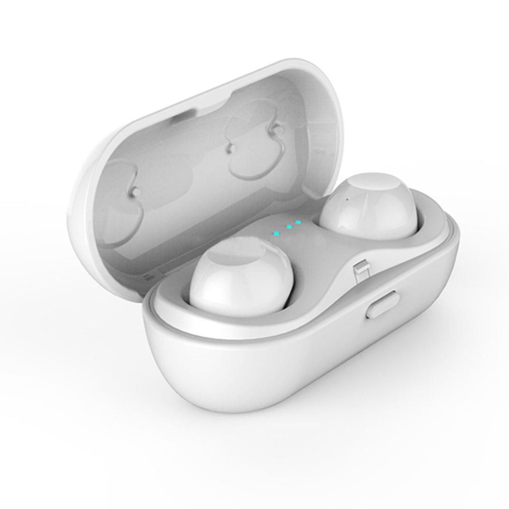 Touch Wireless Bluetooth V4.2+EDR Stereo Music Bluetooth Headset with Charging Box (White)