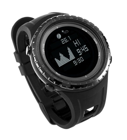 Multifunction Tide Fishing Watch FR830-5ATM, Digital compass, Altimeter, Barometer, Thermometer, Air pressure trend and altitude