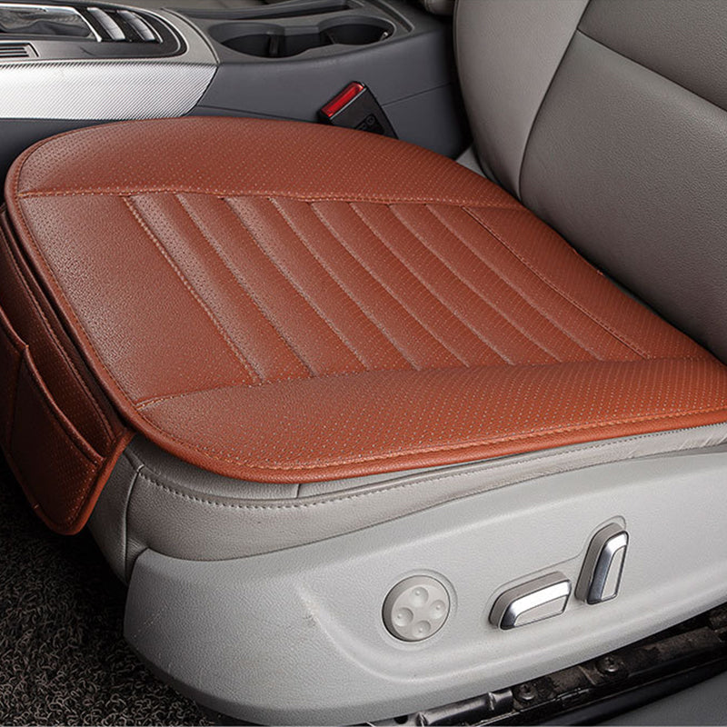 Orange Breathable PU Leather Bamboo Charcoal Car Interior Seat Cover Cushion Pad for Auto Supplies Office Chair