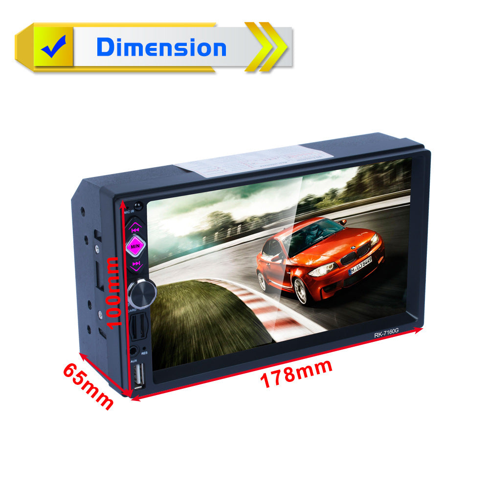 7 inch Bluetooth Car Navigator Radio MP5 Audio Player GPS Reversing Video USB Flash Disk SD Card RDS Mirror Link Function