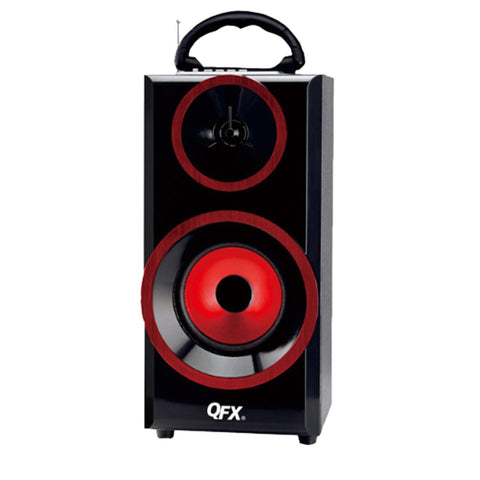 Audio & Video Gadgets QFX Multimedia Seaker with RM Radio-Red