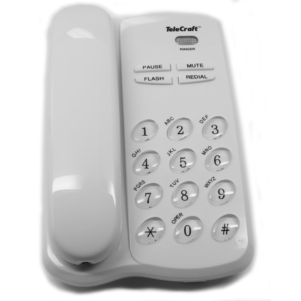 TeleCraft Feature Phone-White