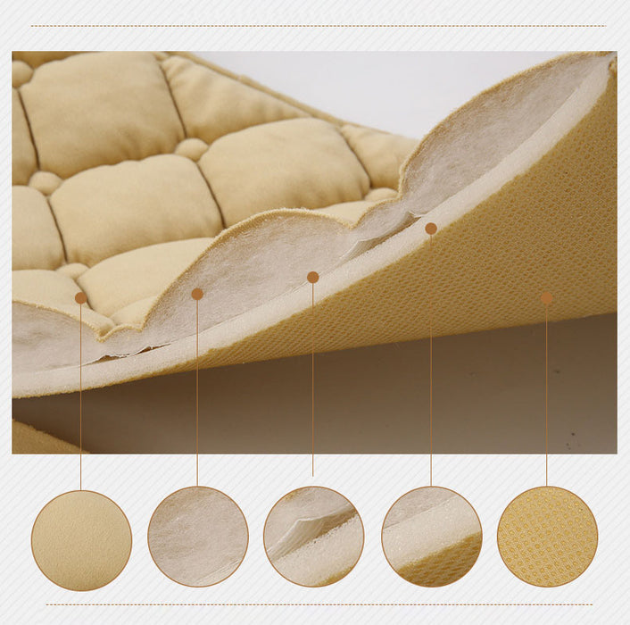 Beige Elasticity Comfortable Car Rear Cushion Non-slip Breathable Car Cushion