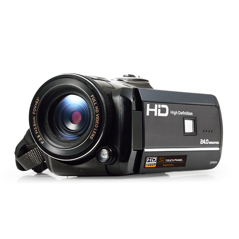 Ordro Full-HD Digital Video Camera - 1080p, 1/3 Inch CMOS Sensor, 3 Inch Touch Display, 18x Digital Zoom, Wi-Fi, Night Vision