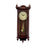 "Bedford Clock Collection Grand 31"" Antique Mahogany Cherry Oak Chiming Wall Clock with Roman Numerals"