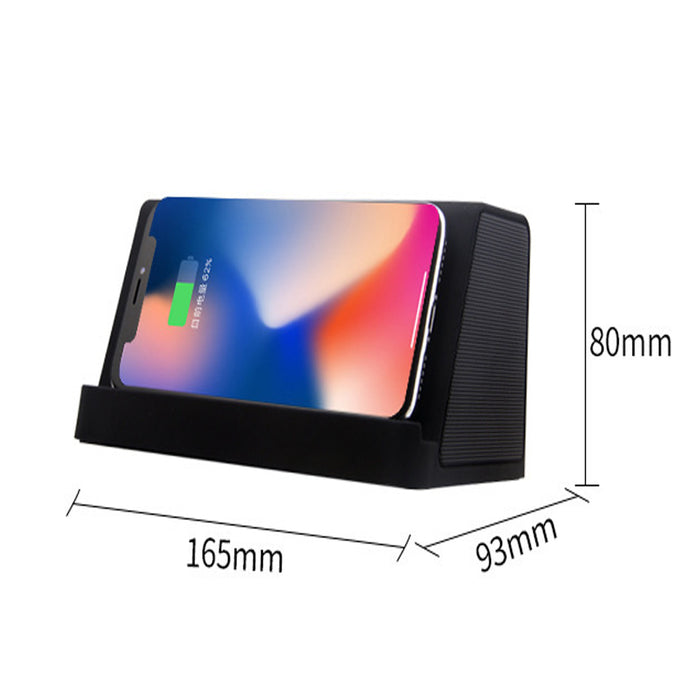 Wireless Charger with Bluetooth Speaker 5W Portable Fast Wireless Charger Stand Pad & Speaker  (Black)