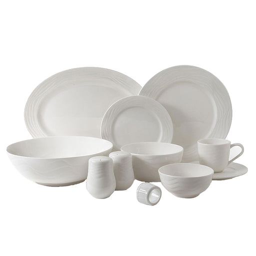 Gibson Home Eventide 46Pc Dinnerware in White