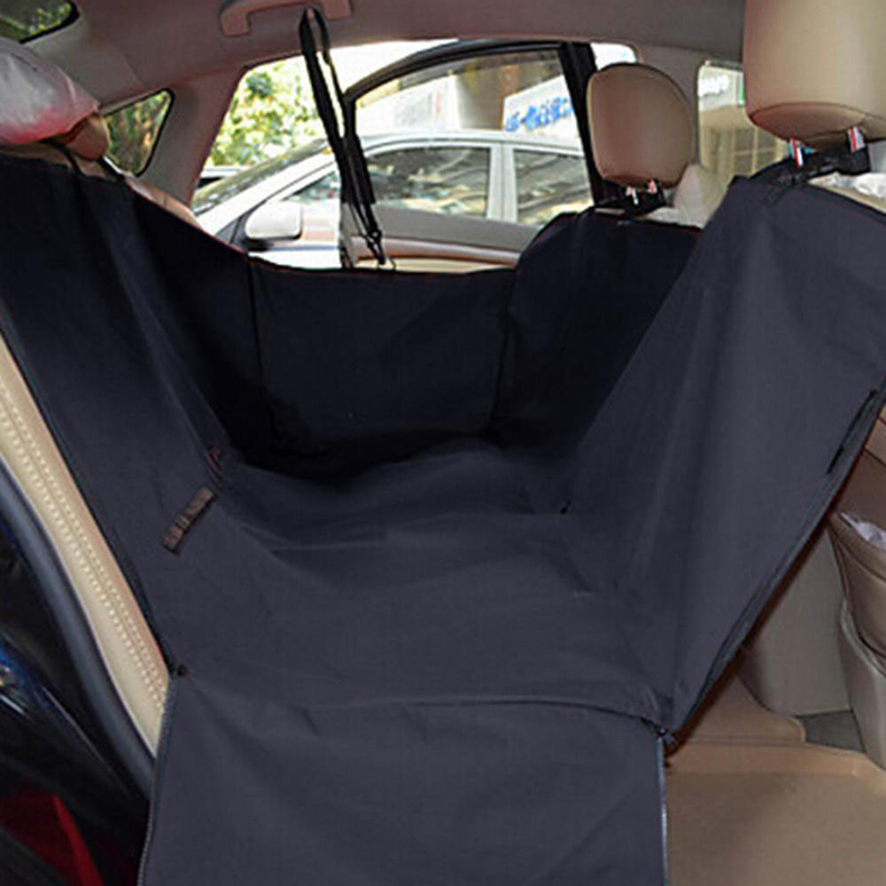 Black Waterproof Vehicle-Mounted Pet Car Back Seat Mat Soiling Resistant Cushion Seat Cover