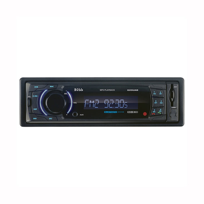 Car Accessories Boss Bluetooth Enabled Single-DIN In-Dash MP3-Compatible Digital Media AM/FM Receiver with Front USB/SD Card Input