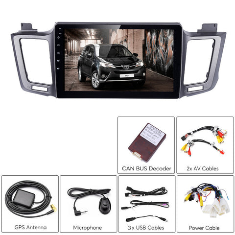 Car DVD Players 1 DIN Car Stereo - For Toyota RAV4, 10.2 Inch Display, Android 6.0, Bluetooth, WiFi, 3G Support, Octa-Core CPU, 2GB RAM, GPS