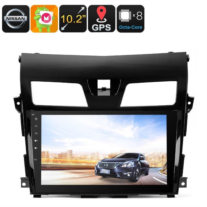 Car DVD Players 2 DIN Android Media Player - For Nissan TEANA, 10.2 Inch HD Display, 3G Dongle Support, GPS, Android 6.0, CAN BUS, Octa-Core CPU