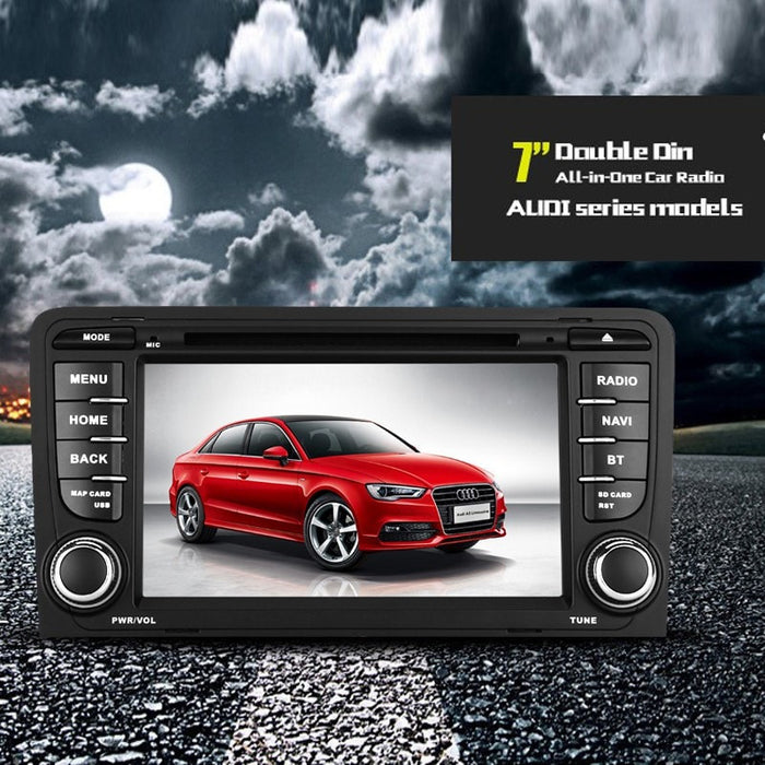 Car DVD Players 2-DIN Car DVD Player For Audi A3 - Android OS, WiFi, GPS, 7 Inch Display, Google Play, Quad-Core CPU