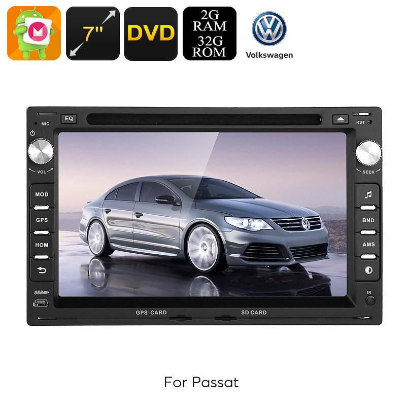 Car DVD Players 2 DIN Car DVD Player - For Volkswagen Passat (B5), Android 6.0, Octa-Core CPU, 7 Inch HD Display, GPS, WiFi, 3G, CAN BUS
