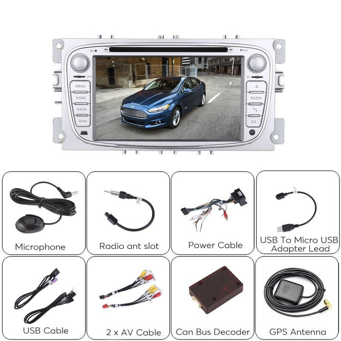 Car DVD Players 2 DIN Car DVD Player - Ford Mondeo (2007 to 2011 Models), Android 5.1, GPS, 7 Inch Screen, CAN Bus, Region Free DVD