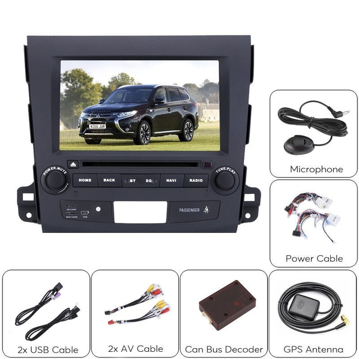 Car DVD Players 2 DIN Car DVD Player Mitsubishi Outlander - 8 Inch HD Display, Android OS, Quad-Core CPU, Region Free DVD, 3G Support, GPS