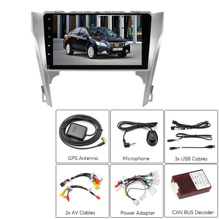 Car DVD Players 2 DIN Car Media Player - For Toyota Camry, 10.2- Inch, Bluetooth, WiFi, 3G, GPS Navigation, CAN BUS, Google Play