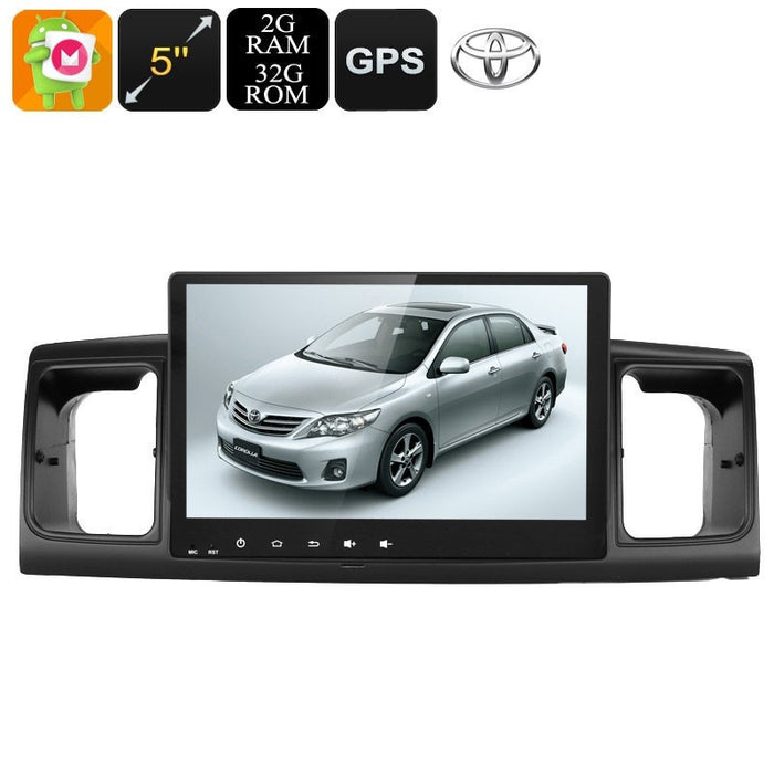 Car DVD Players 2 DIN Car Stereo - For Toyota Corolla, 9 Inch Display, Android 6.0, GPS, WiFi, 3G Support, CAN BUS, Octa-Core CPU, 2GB RAM