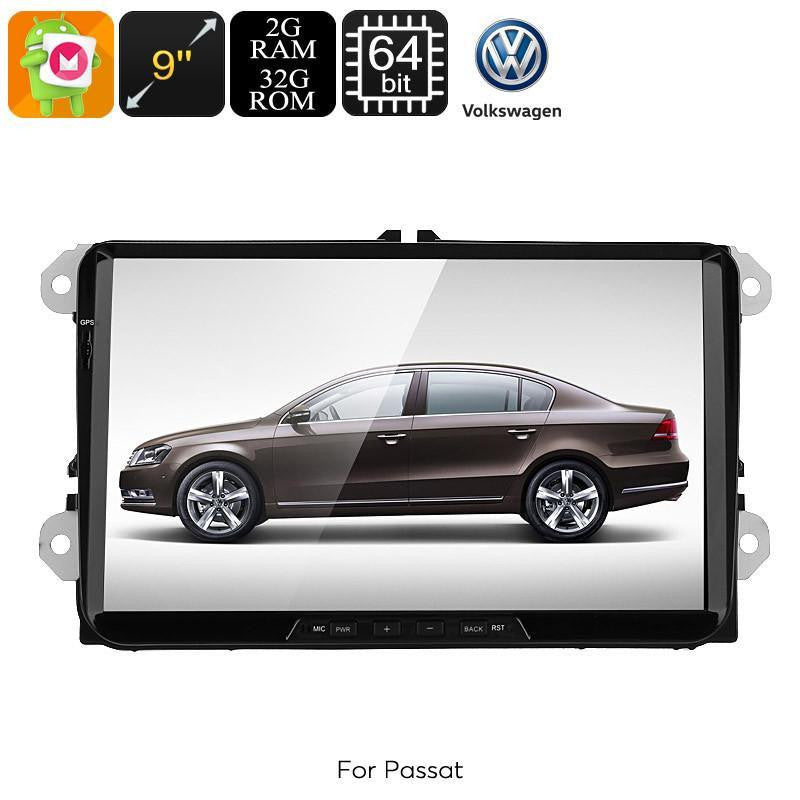 Car DVD Players 2 DIN Car Stereo VW Passat - 9-Inch HD Display, Android 6.0, Bluetooth, WiFi, 3G, Google Play, CAN BUS, Octa-Core CPU, GPS