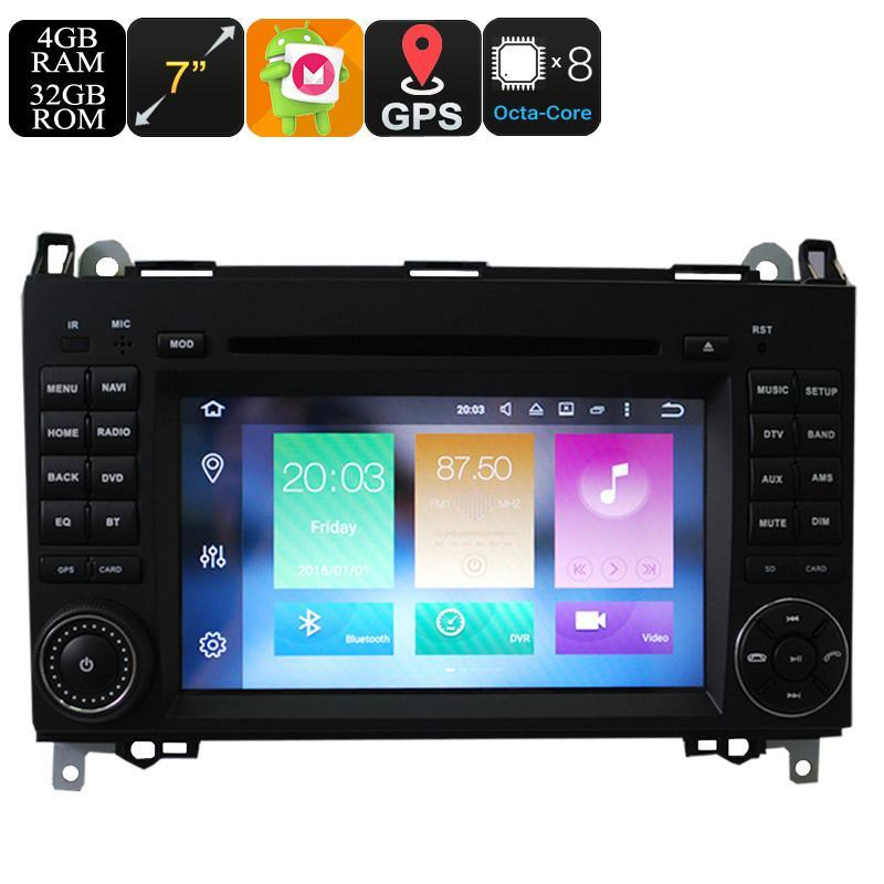 Car DVD Players 7 Inch Android Car DVD Player For Benz - Dual-Din, Octa Core, 4+32GB, Can Bus, GPS, 3G and 4G Support, Wifi, Bluetooth