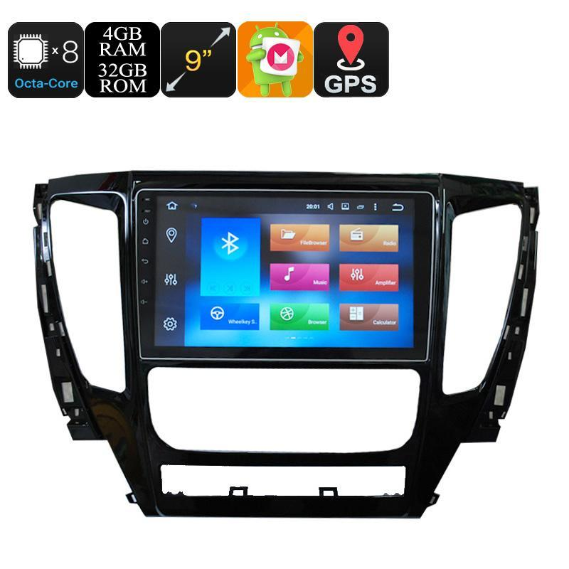 Car DVD Players 9 Inch One Din Car Media Player For Mitsubishi Pajero 2017 - Android 6.0, Octa Core, 4+32GB, Can Bus, 3G Support, Wifi, GPS