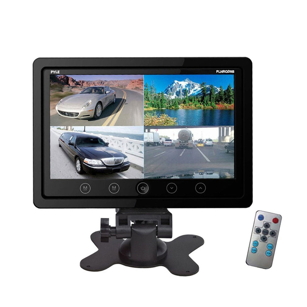Car Video Pyle 9'' Quad TFT/LCD Video Monitor w/Headrest Shroud and BNC & RCA Connectors
