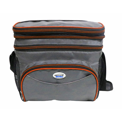Brentwood Cooler Bag 6 Can w/ Hard Plastic Ice Bucket in Orange