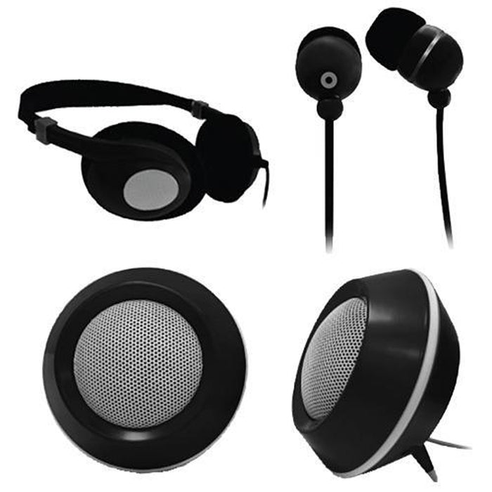 Cheap & Cool Gadgets Craig 3 In 1 Audio Combo Pack-BLACK