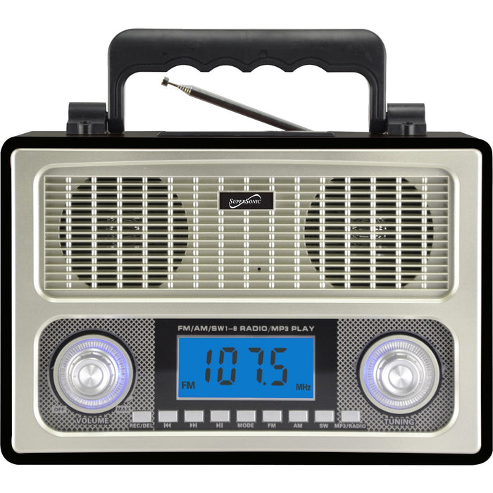 Cheap & Cool Gadgets Supersonic 10 Band AM/FM/SW Radio Black