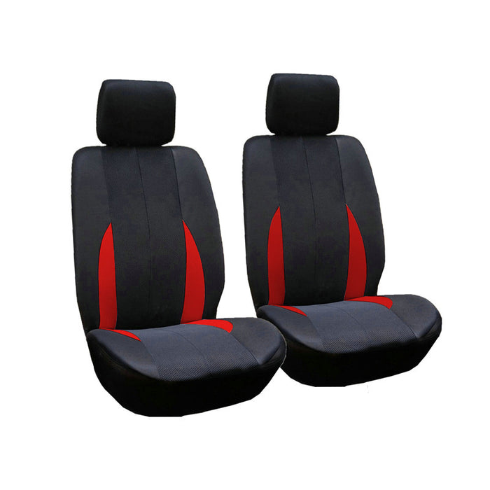 2pcs/Set Car Front Breathable Seat Covers Red