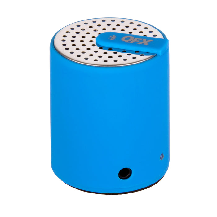 QFX Portable Bluetooth Speaker with AUX-IN (Blue)