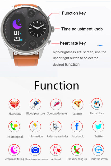Tracker Ip68 Waterproof Watch Steel Sport Silver Activity Fitness amp;orange Smart Smartwatch Stainless 2IED9WH