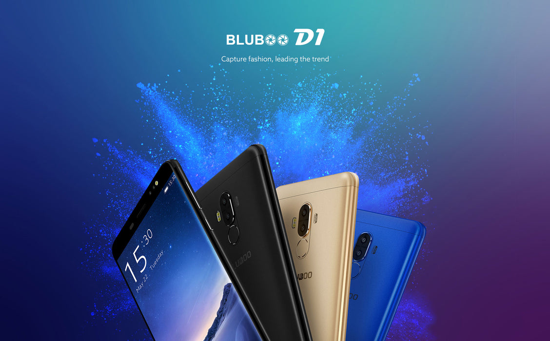 Bluboo D1 5.0'' 3G Smartphone HD 8MP Dual Back Camera MTK6580 Quad Core 2G RAM 16G ROM Android 7.0 Nougat 2600mAh Mobile Phone