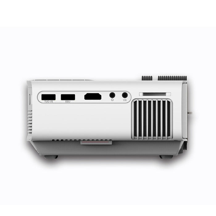 Portable Video Projector Wireless Projector Multimedia HD Home Cinema Theater Projector (White)