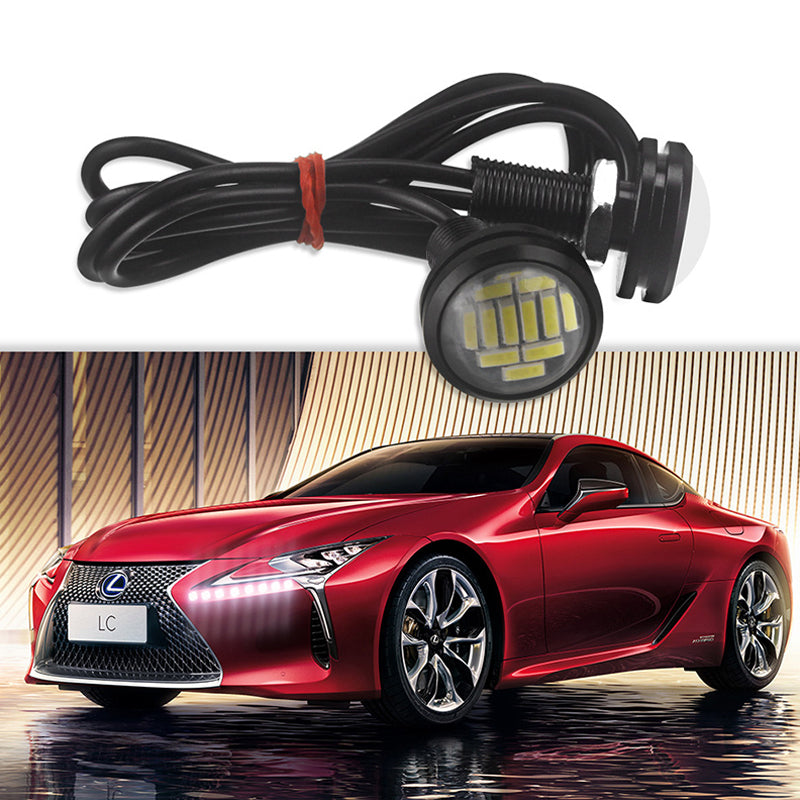 2PCS Eagle Eye LED 4014 12SMD 23MM DRL Daytime Running Waterpproof Light Motor Car Lamp