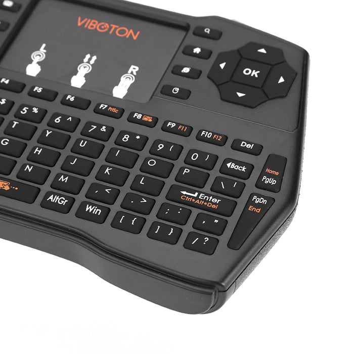 Wireless Keypad - 2.4GHz Wireless, Touchpad, Anti-Skid Design, 92 Key QWERTY, Game Controls, 1020mAh Battery