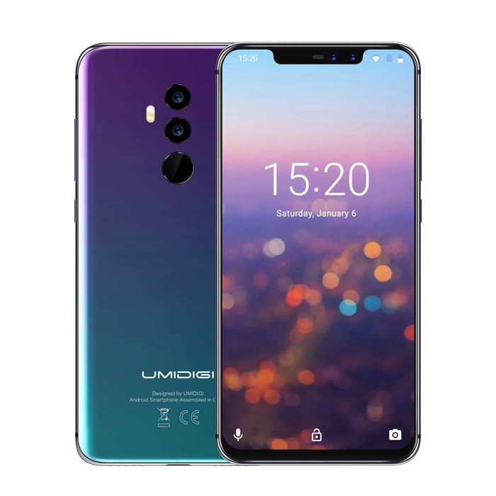 "UMIDIGI Z2 Special Edition Global Bands Mobile Phone 6.2"" FHD Full-Screen Android 8.1 4G Smartphone (Aurora)"