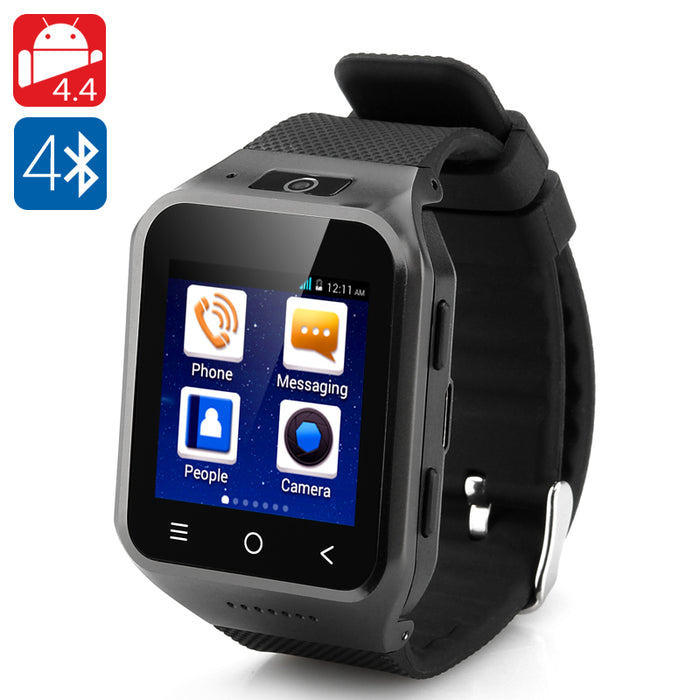 ZGPAX S8 Android 4.4 Watch Phone - Dual Core CPU, 1.54 Inch Display, 512MB RAM, 4GB Internal Memory, 2 Megapixel Camera (Black)