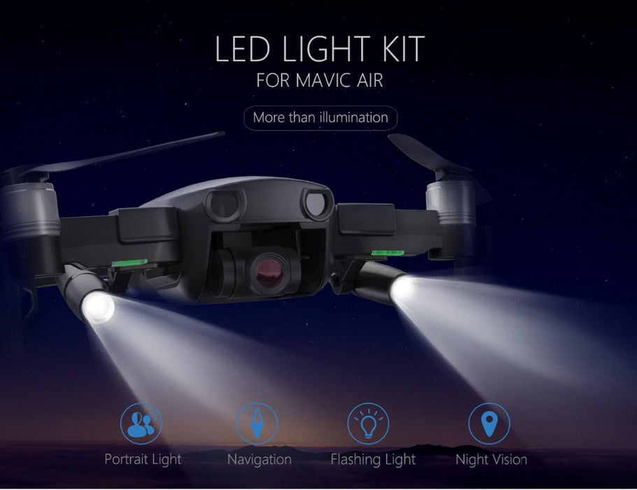 LED Lamp Light Night Vision Searching Guide for DJI Mavic Air Accessories without Battery