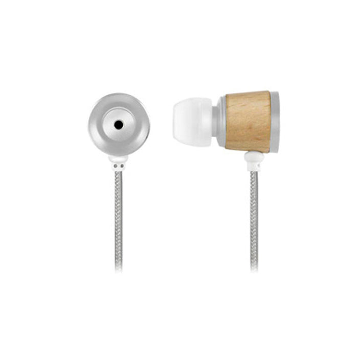 Wooden Chamber Headphones- Silver