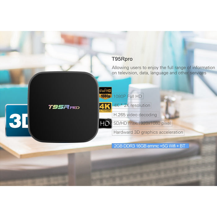 T95Rpro Android 6.0 Smart TV Box Amlogic S912 Octa-core RAM 2GB ROM 16GB