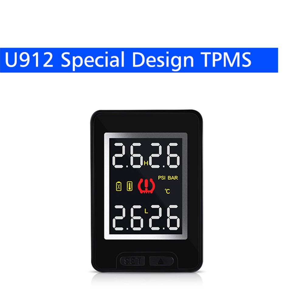 Toyota Tire Pressure Monitoring System - For Toyota CAREUD U912, Auto Wireless TPMS, 4 Sensors LCD Display Embedded Monitor