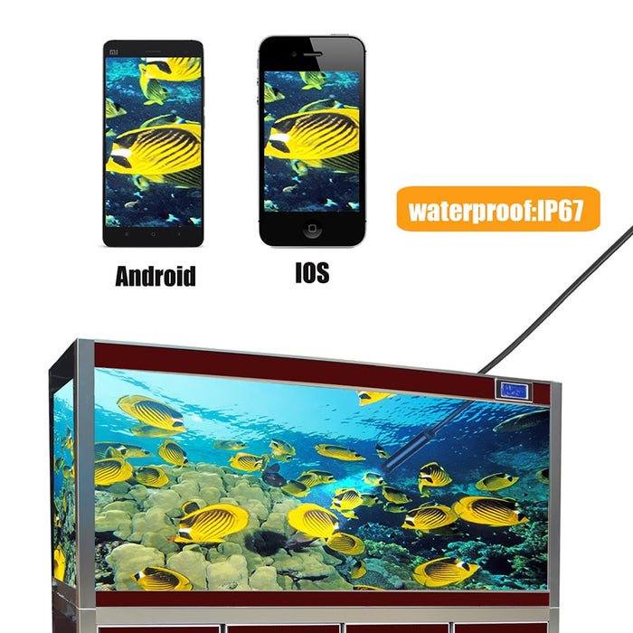 Endoscope - 5 Meter, IP67 Waterproof, 720p Resolution, 8x LED, 8mm Diameter, WiFi, 70-Degree Viewing Angle, 600mAh Battery