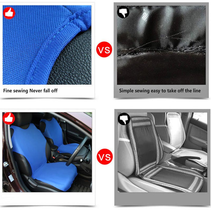 Car Front Breathable Seat Covers for 5 Seat SUV Universal Application 4 Seasons Available (Blue)