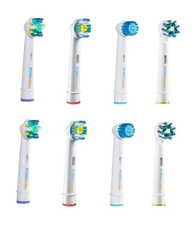 Health & Lifestyle Oral B Floss Action, Professional Pro White, Sensitive Gum Care, and Cross Action Toothbrush Head Variety Mix, 8 Count