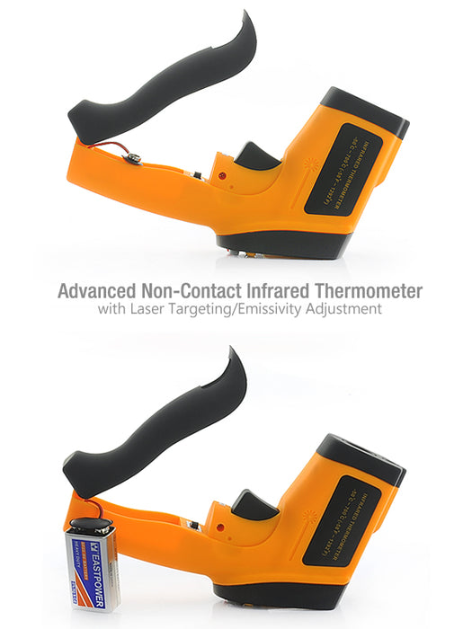 Advanced Non-Contact Infrared Thermometer - Laser Targeting and Emissivity Adjustment