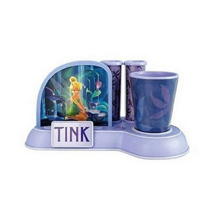 Home KNG 000247 Tinkerbell Toothbrush Holder with Cup