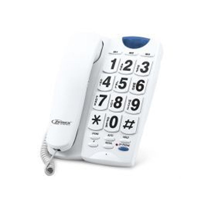 Home Zenex Single Line Corded Phone- White