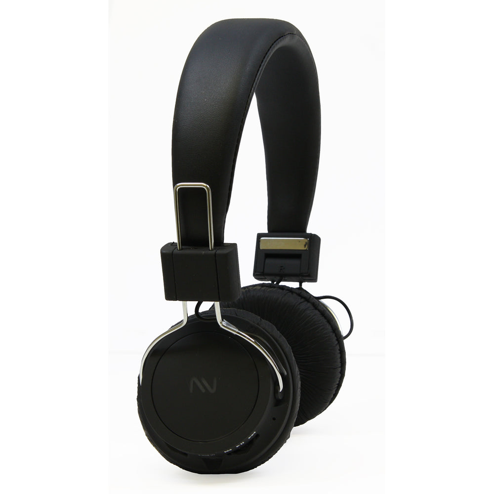 Nutek Handsfree Headphones with Microphone Built-in Rehargebale Battery- Black